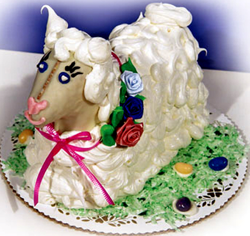 Easter Lamb Cake picture